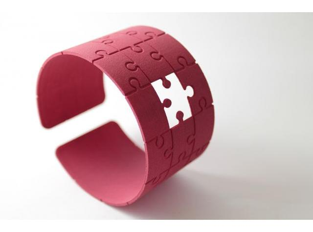 3D Printed &quot;I Miss You!&quot; Bracelet