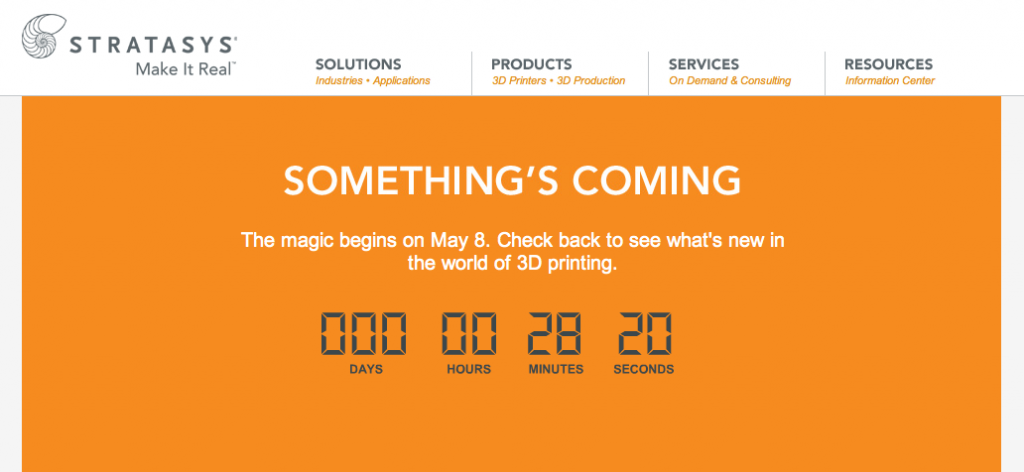 Stratasys Countdown to The Magic
