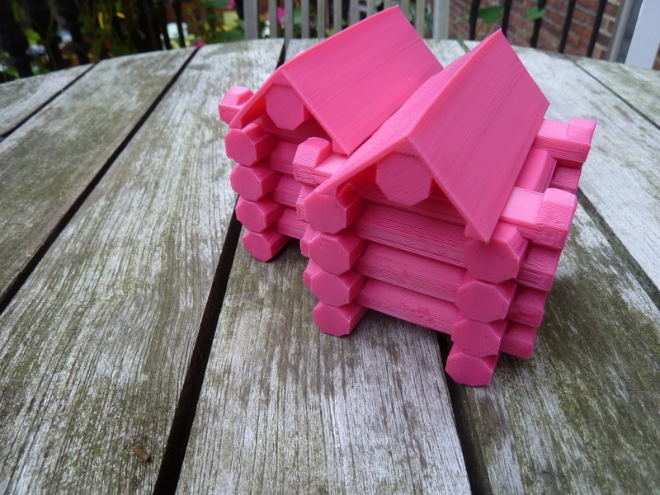 3D Printed Lincoln Log Cabin