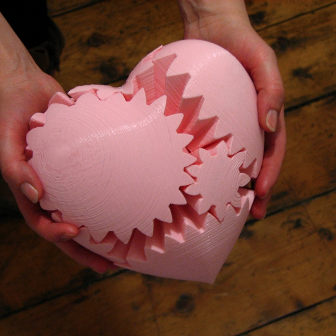 3D Printed Heart-Shaped Gears