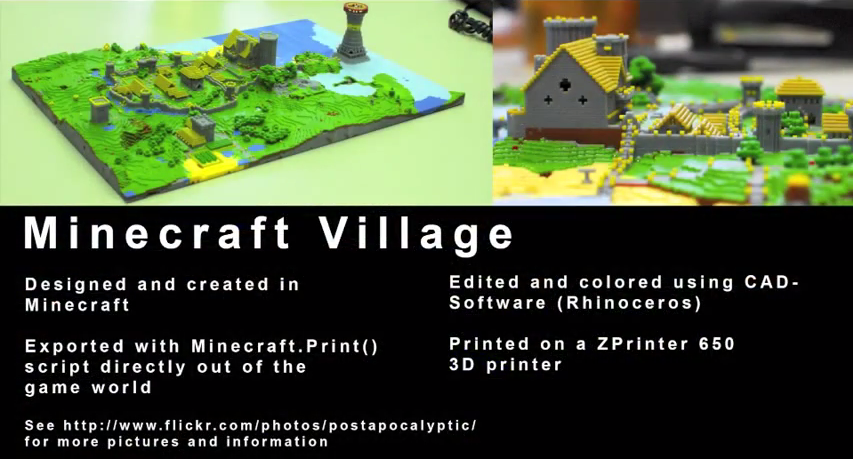 Minecraft Village Digital to 3D Print