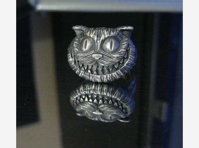 Cheshire Cat Silver Ring