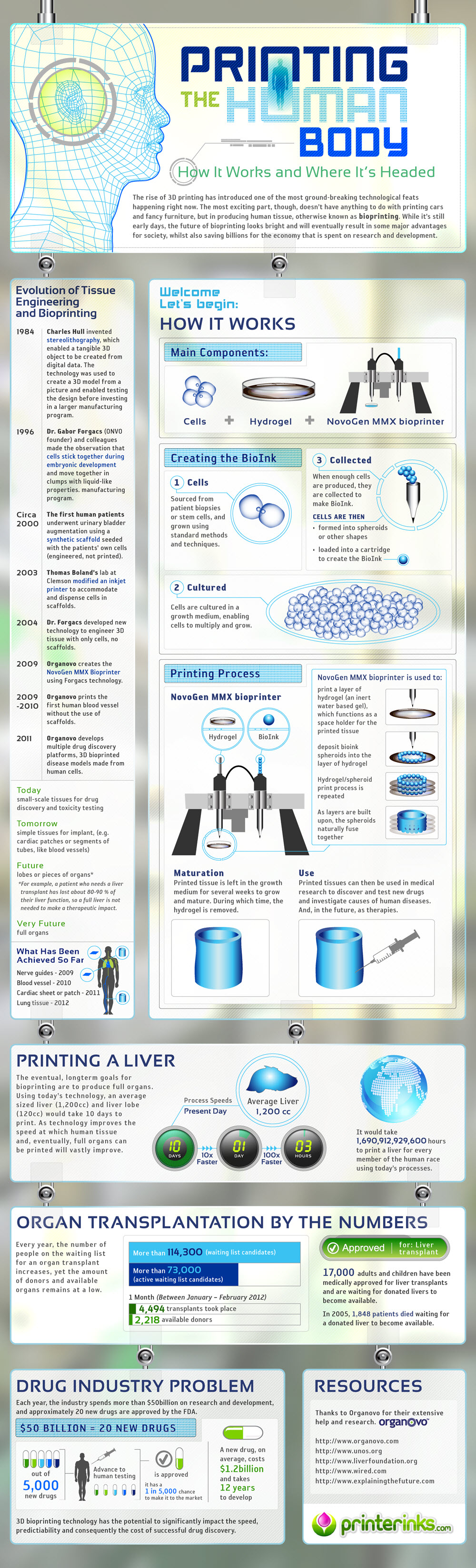 Infographic Bio 3D Printing