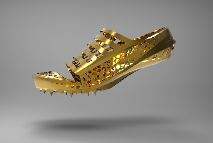 3D Printed Golden Shoes