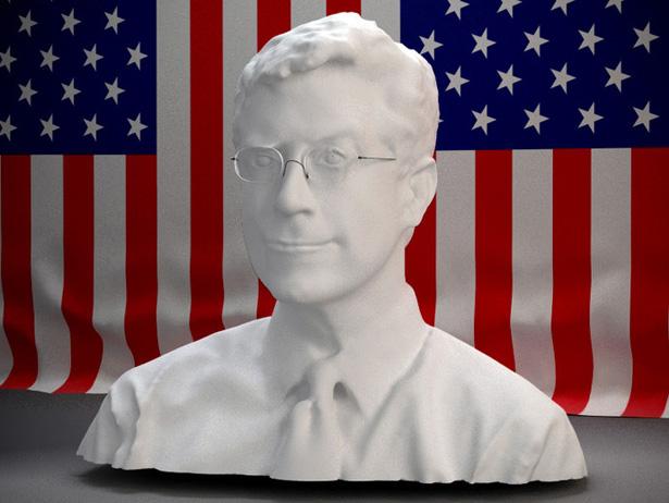 Stephen Colbert 3D Printed Bust