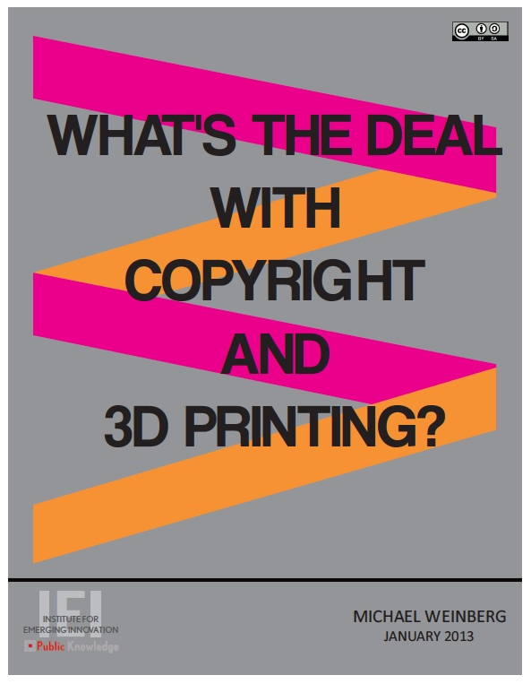 Copyright and 3D Printing