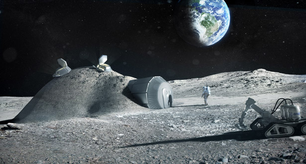 Lunar Base 3D Printing