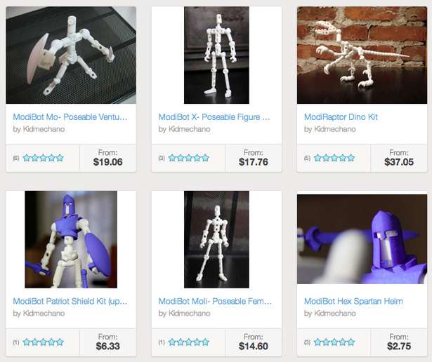 3D Printed Toys Shapeways Kidmechano