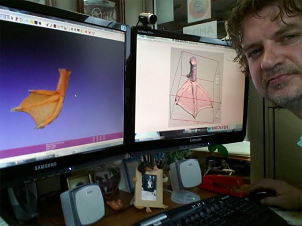 Buttercup Duck 3D Printed Foot
