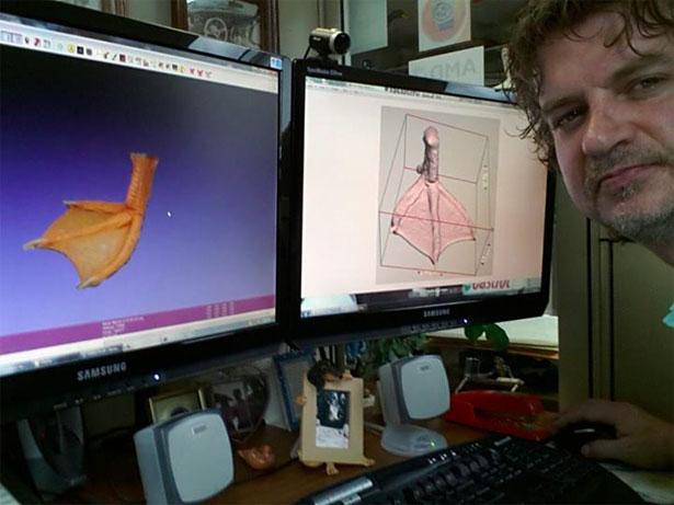 Buttercup Duck 3D Printed Foot
