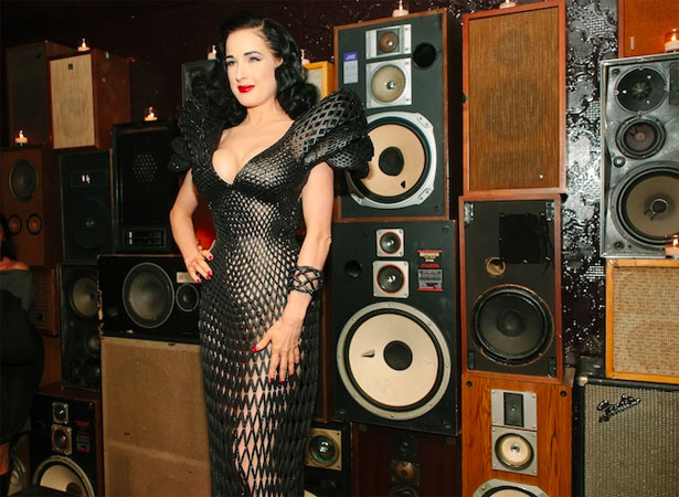 3D Printed Fashion Dita Von Teese