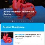 MakerBot Thingiverse App Screen