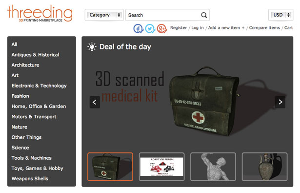Threeding.com 3D Printing Marketplace
