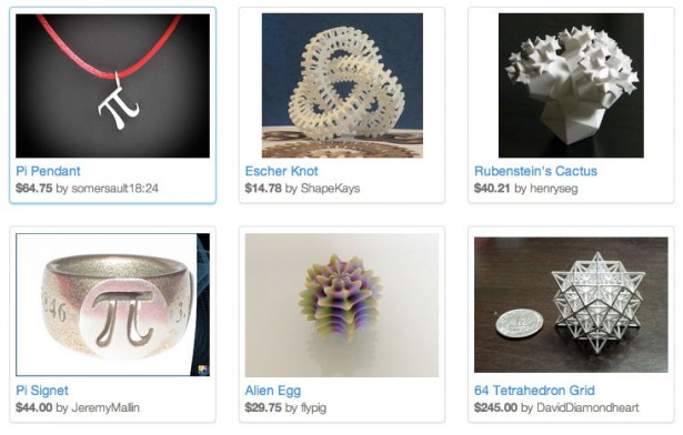 Shapeways Pi Day Collection